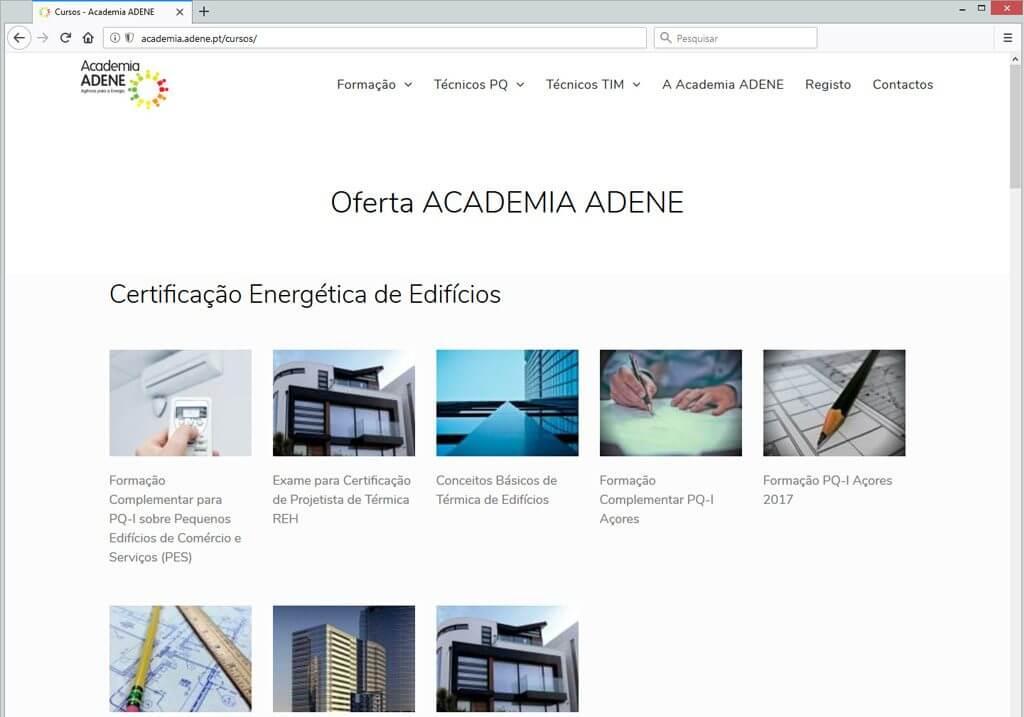 site academia ADENE