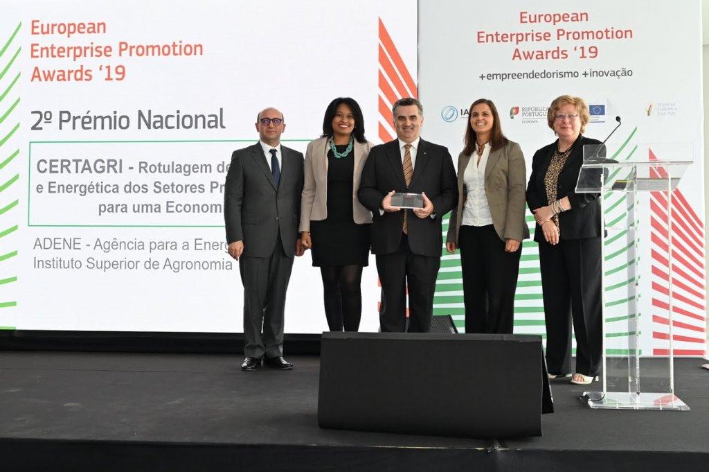 Projeto CERTAGRI é premiado na edição nacional dos European Enterprise Promotion Awards