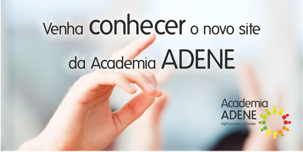 Portal Academia ADENE com nova imagem